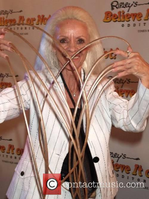 Lee Redmond, woman with record for longest fingernails...