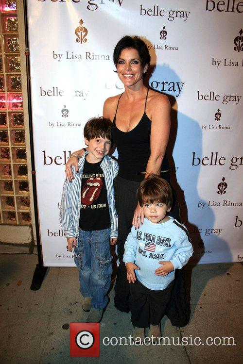Lesli Kay with sons Jackson and Alec,...