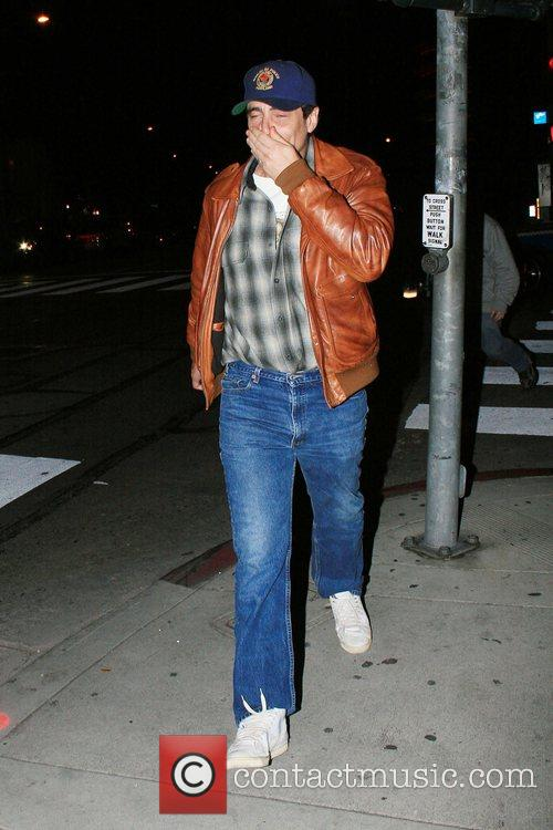 Benicio Del Toro out walking in Melrose Avenue...