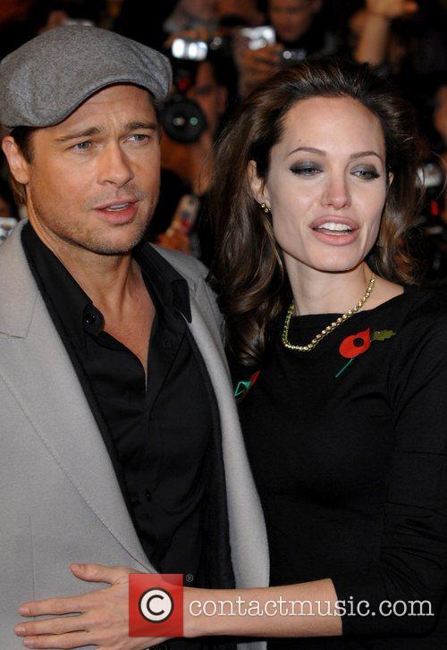 Brad Pitt and Angelina Jolie UK premiere of...