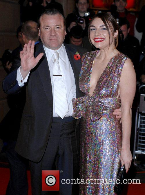 Ray Winstone and guest UK premiere of 'Beowulf'...