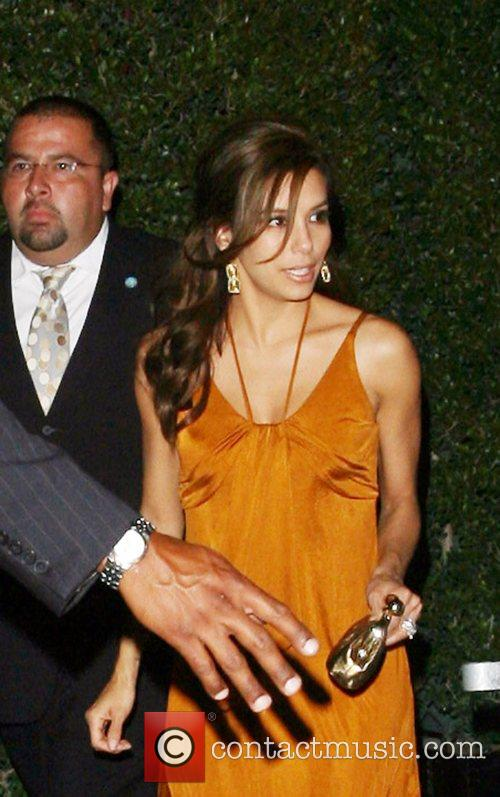 Eva Longoria leaving the launch party for her...