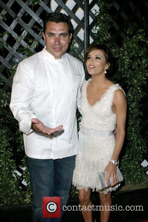 Eva Longoria and Chef Todd English 3