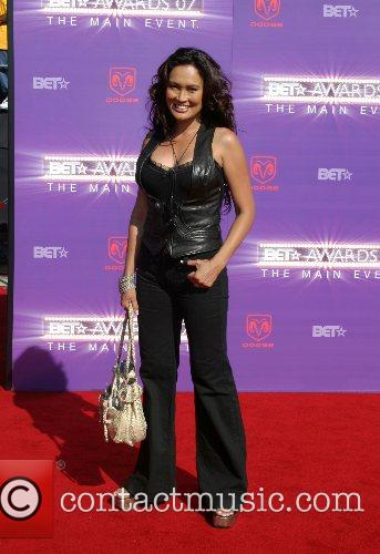 Tia Carrere B.E.T.Awards 2007 held at The Shrine...