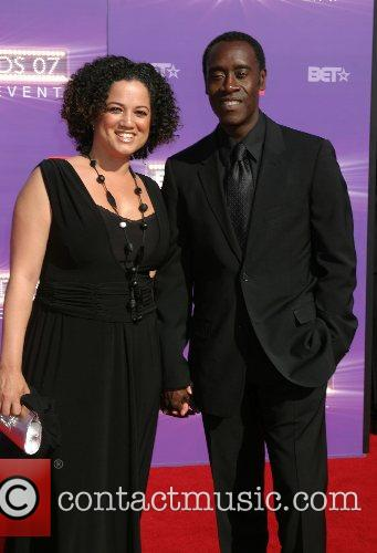 Don Cheadle and wife B.E.T.Awards 2007 held at...