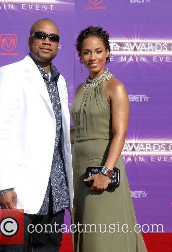Alicia Keys and Boyfriend B.E.T.Awards 2007 held at...