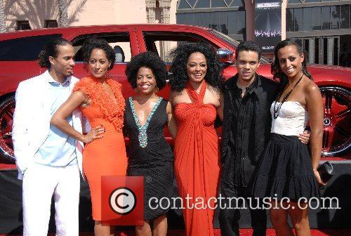 Diana Ross & Family B.E.T.Awards 2007 held at...