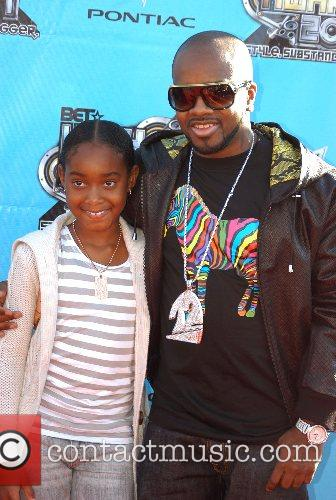 Jemaine Dupree and daughter Shaniah 2007 BET Hip-Hop...
