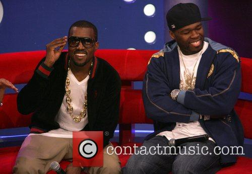Kanye West and 50 Cent performing on BET...