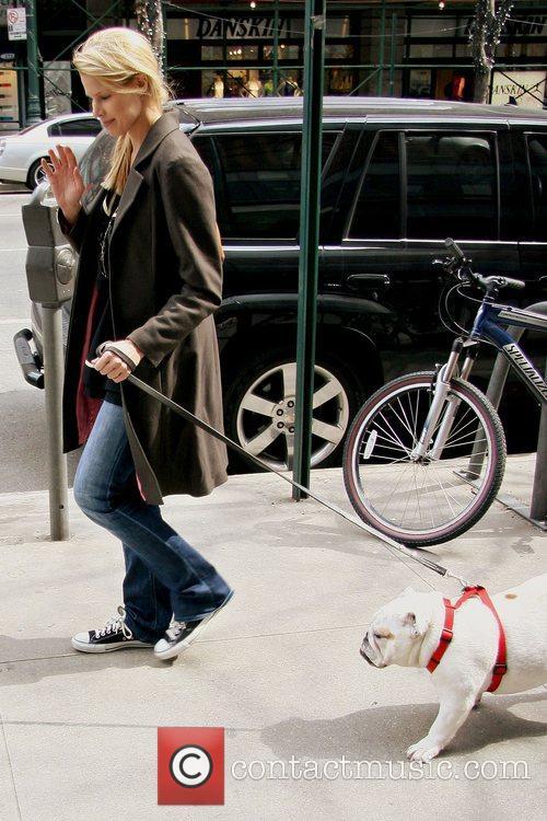 Beth Ostrosky walks her dog Beyonce New York...