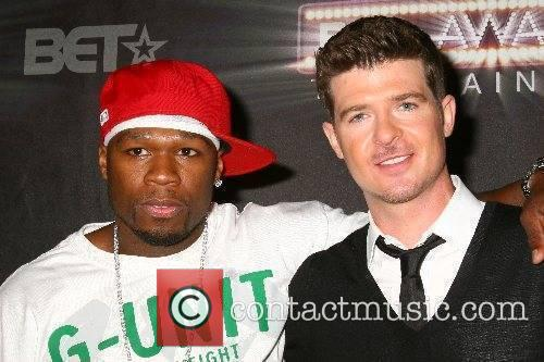 Robin Thicke and 50 Cent BET Awards 2007...