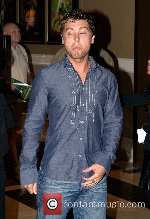 Lance Bass arrives at the aftershow party for...
