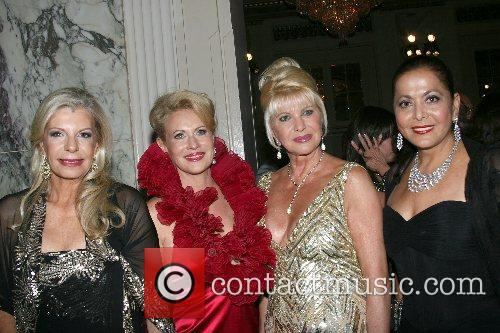 Princess Yasmin Aga Khan, Ivana Trump, and guest...