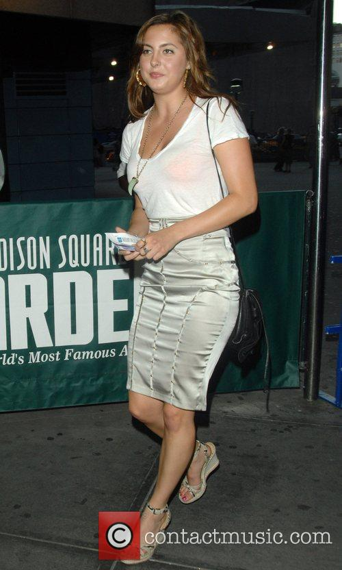 Arrives at Madison Square Garden for Beyonce's concert