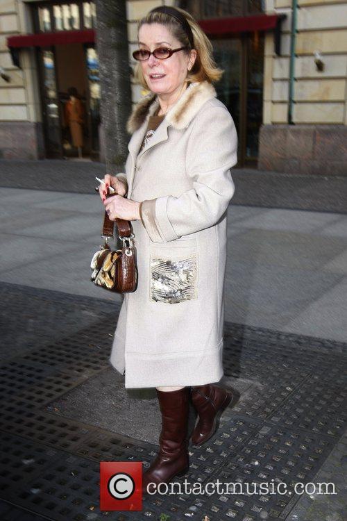 Catherine Deneuve outside Adlon Hotel at Pariser Platz...
