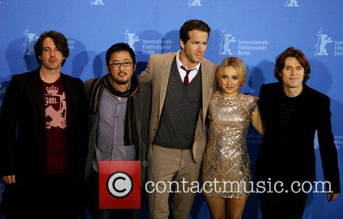 Marco Weber, Hayden Panettiere and Ryan Reynolds