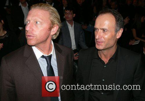 Boris Becker, Bruno Saelzer Mercedes Benz Fashion Week...