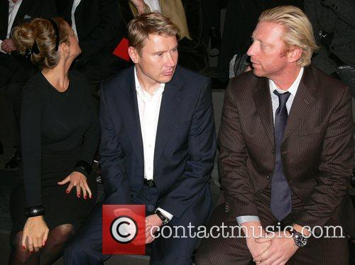 Mika Haekkinen, Boris Becker Mercedes Benz Fashion Week...