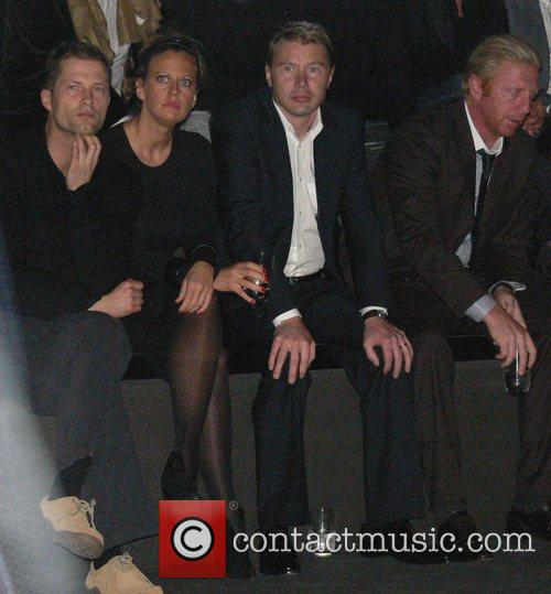 Til Schweiger, Barbara Schoeneberger, Mika Haekkinen and Boris Becker 1