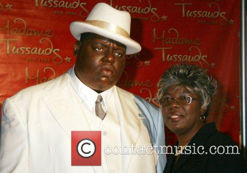 Waxwork unveiling for the late rapper Biggie Smalls...