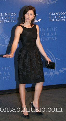 Jessica Biel President Bill Clinton hosted a party...