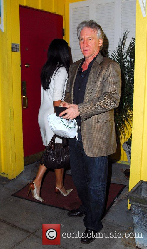Bill Maher Leaves a restaurant in Beverly Hills...
