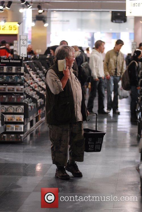 Bill Oddie Browsing for CD's at the HMV...