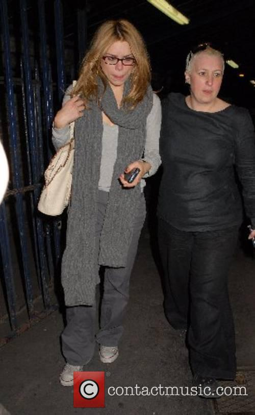 Billie Piper leaving the Garrick Theatre London, England
