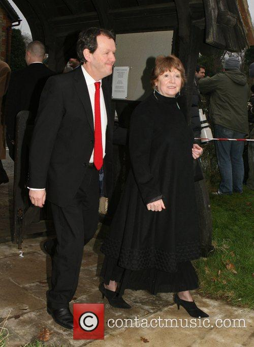 Kevin Whately and Madelaine Newton arrive at the...