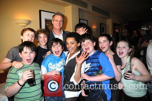 Director Stephen Daldry and Billy Elliot boys Multi...