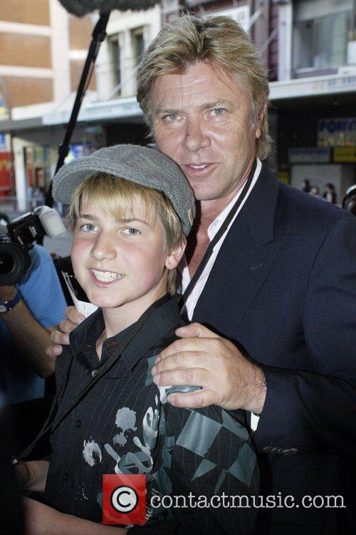 Richard Wilkins and his son Christian Wilkins Premiere...