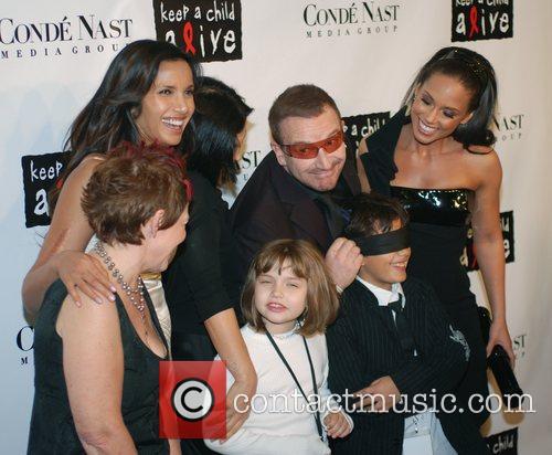 Padma Lakshmi, Alicia Keys, Bono