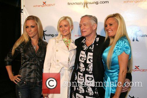 Kendra Wilkinson, Holly Madison and Hugh Hefner 2