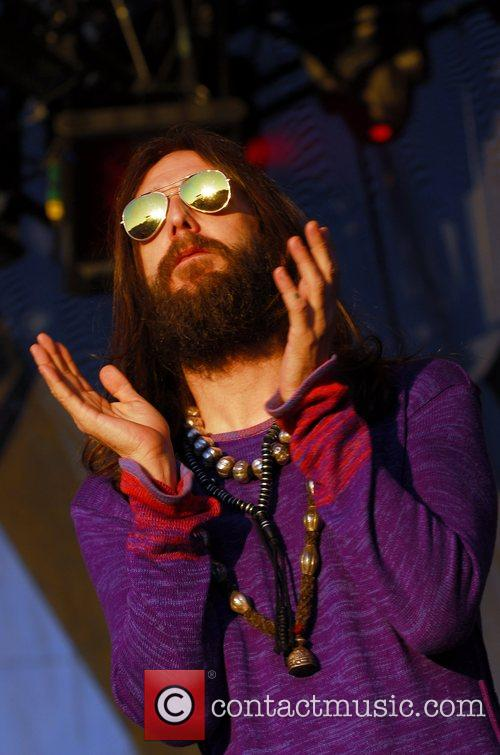 Chris Robinson of The Black Crowes plays the...
