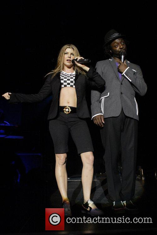 Fergie and will.i.am The Black Eyes Peas performing...