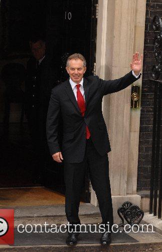 Tony Blair  arrives back at 10 Downing...