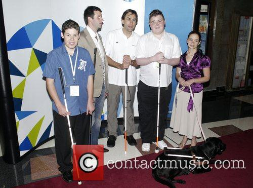 Erik Weihenmayer with some of the group of...