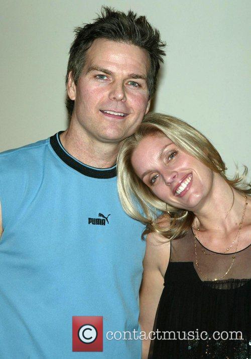 Bo Eason and his wife Dawn Radenbaugh-Eason backstage...