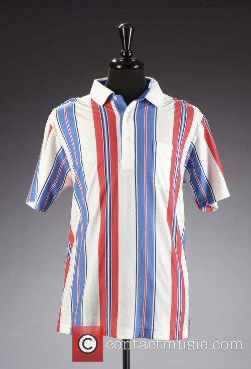 Bob Hope's Pink Blue & White golf shirt...