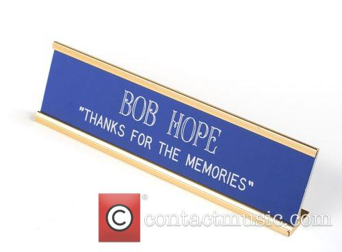 Bob Hope's desk top name plate holder...