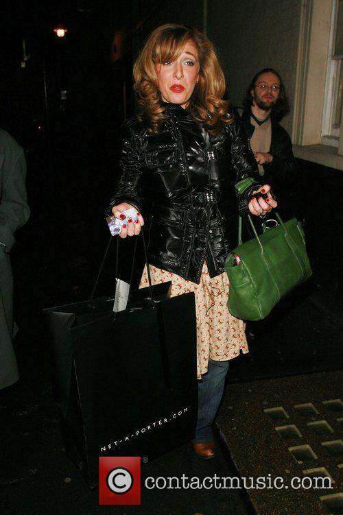 Tracy Ann Oberman leaving the Comedy Theatre after...