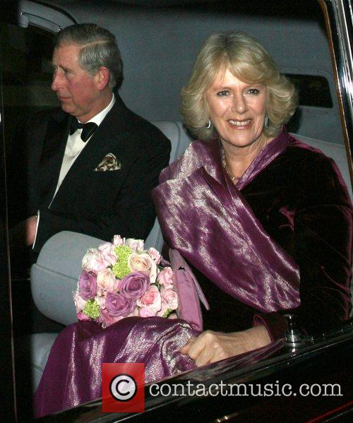 Prince Charles and Camilla, Duchess of Cornwall leaving...