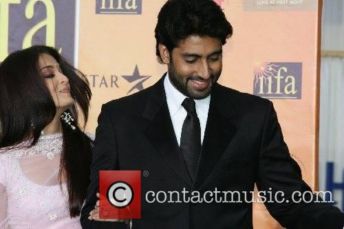 Aishwarya Bachchan and Abishek Bachchan IIFA Bollywood Awards...