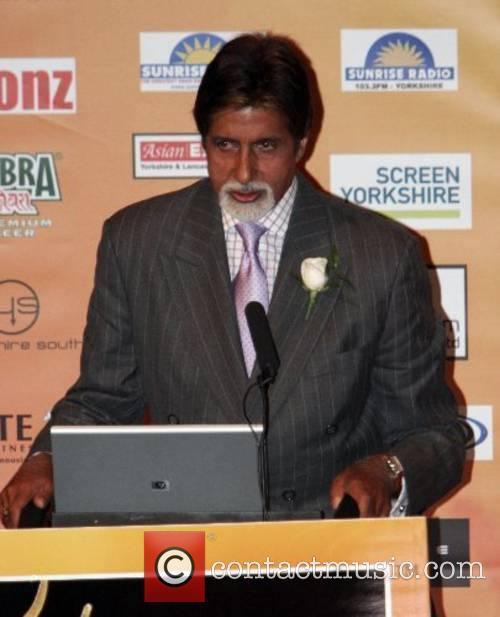 Amitabh Bachchan  at the Bollywood awards press...