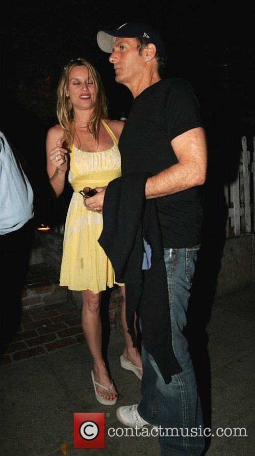 Leaving The Ivy restaurant in West Hollywood