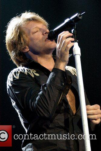 Bon Jovi performing live in concert at The...