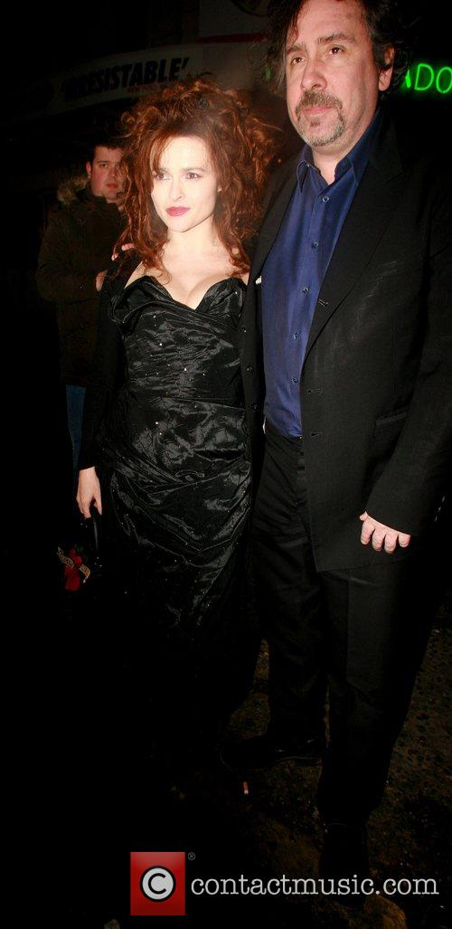Helena Bonham Carter and husband Tim Burton at...