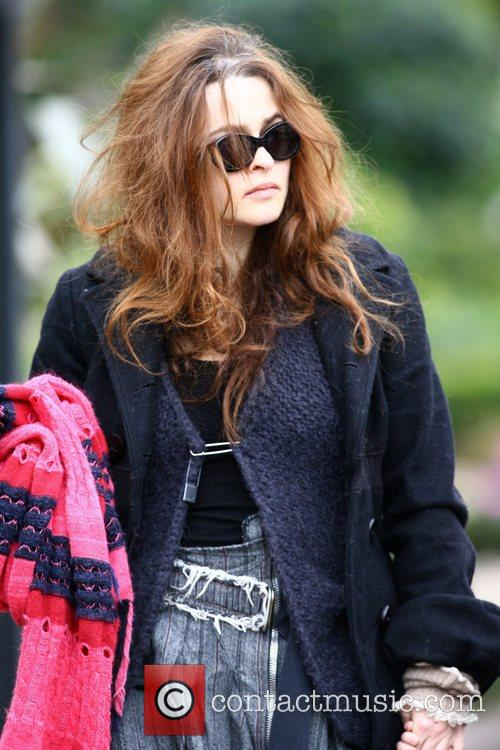 Helena Bonham Carter collects her son Billy Ray...