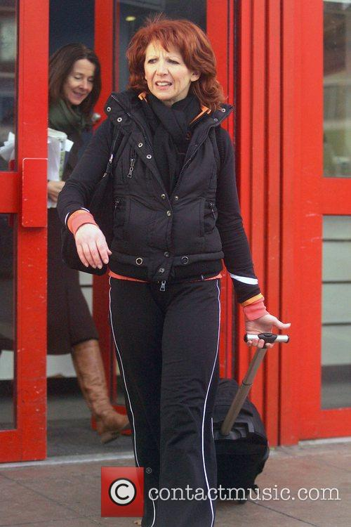 Bonnie Langford  leaving a training session for...