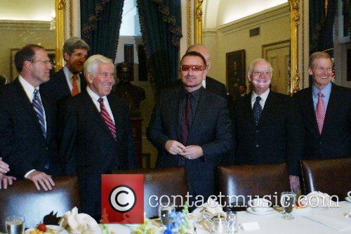 Senator Joe Biden and Bono Bono (of U2)...